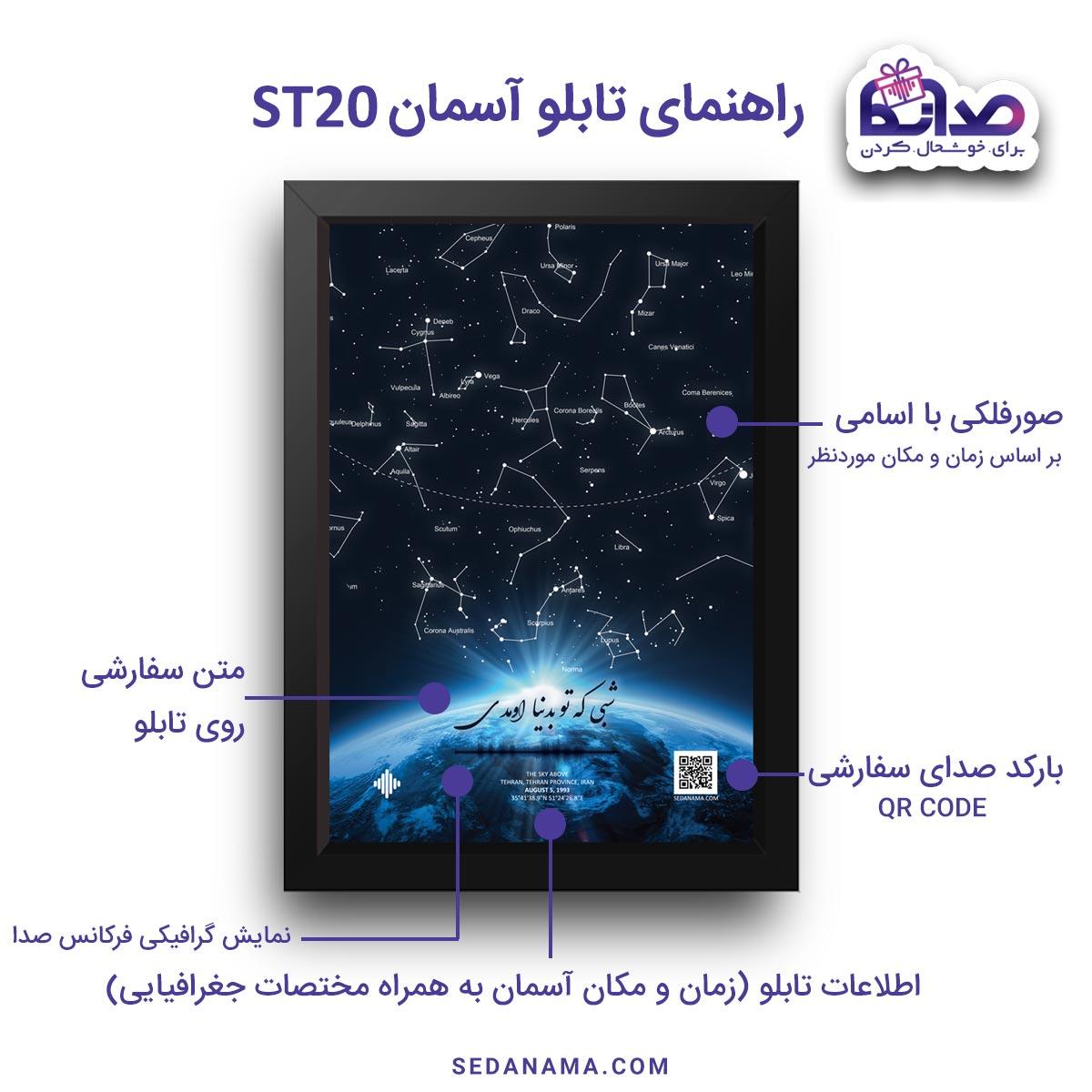 راهنمای تابلو آسمان ST20