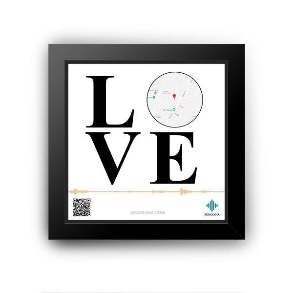 تابلو مکان طرح عشق LOVE