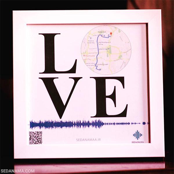 تابلو مکان نما طرح LOVE عشق