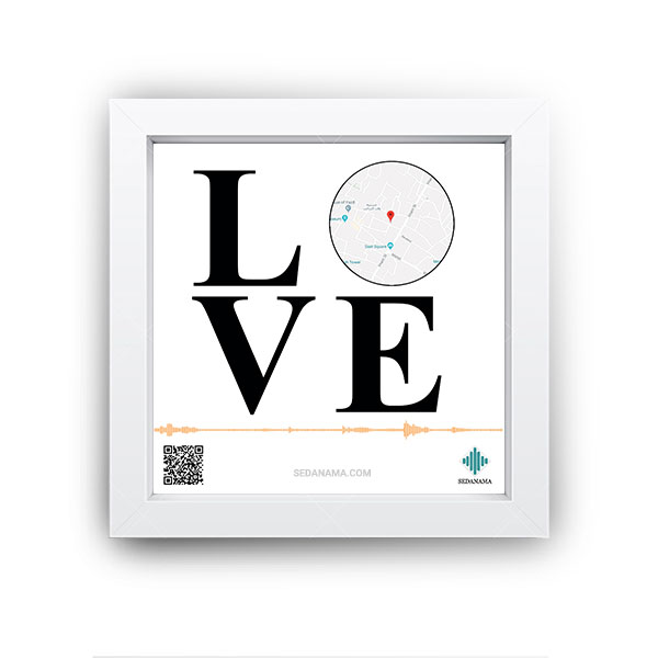 تابلو مکان نما طرح LOVE