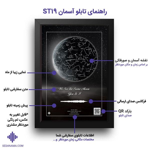 راهنمای تابلو آسمان و ماه ST19