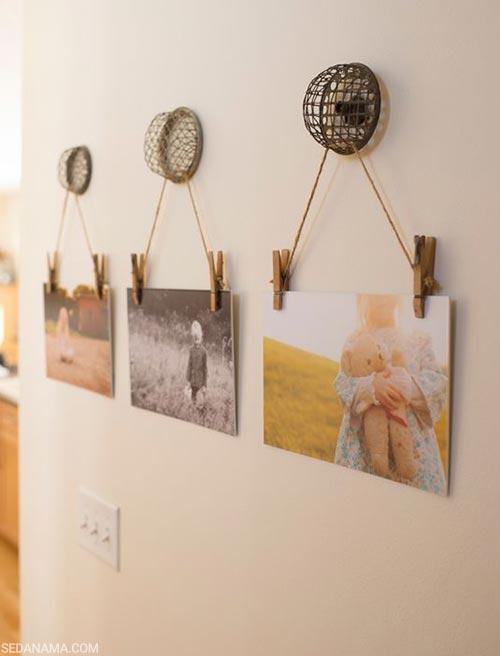 creative ways photo hanging on the wall 14 - 17 ایده و روش خلاقانه و مدرن برای نمایش عکس روی دیوار