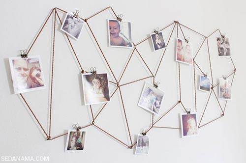 نمایش عکس روی دیوار با شکل هندسی