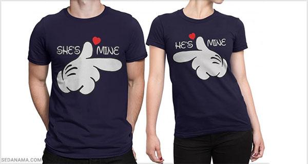 خرید تی شرت برای ولنتاین