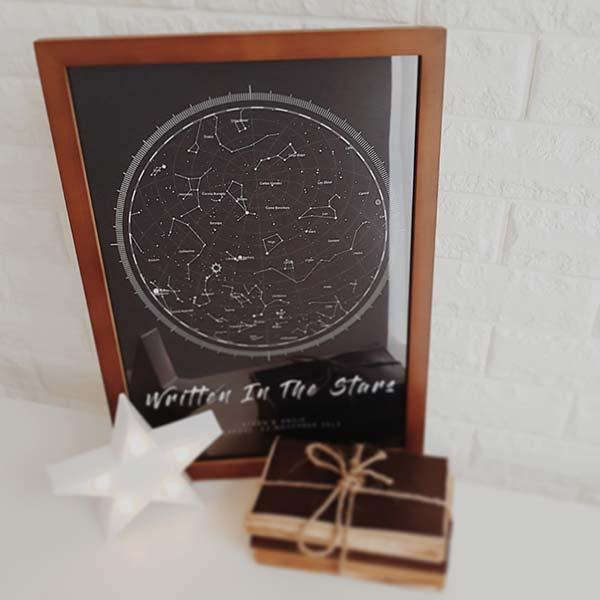 نقشه آسمان شب تولد