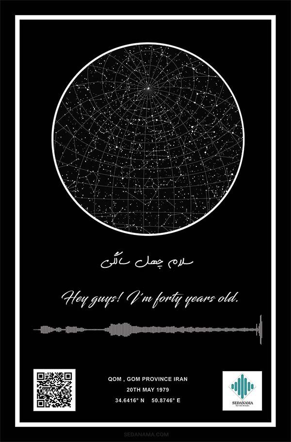 تابلو آسمان روز تولد