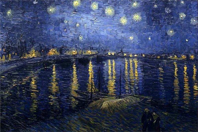 the starry night over the rhone sedanama - تابلو آسمان